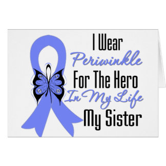 Esophageal Cancer Ribbon Hero My Sister Greeting Card