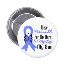 Esophageal Cancer Ribbon Hero My Son Pinback Button