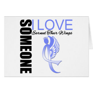 Esophageal Cancer Someone I Love Earned Wings Greeting Card