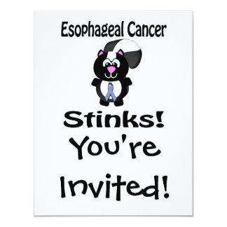 Esophageal Cancer Stinks Skunk Awareness Design 4.25x5.5 Paper Invitation Card