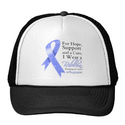 Esophageal Cancer Support Hope Awareness Mesh Hats