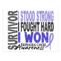 Esophageal Cancer Survivor 4 Postcard
