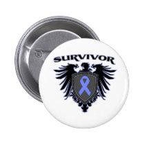 Esophageal Cancer Survivor Crest 2 Inch Round Button