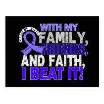 Esophageal Cancer Survivor Family Friends Faith Postcard