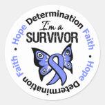 Esophageal Cancer Survivor Hope Determination Round Stickers
