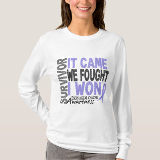 Esophageal Cancer Survivor It Came We Fought I Won T-Shirt