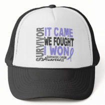 Esophageal Cancer Survivor It Came We Fought I Won Trucker Hat