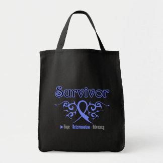 Esophageal Cancer Survivor Tribal Ribbon Bags