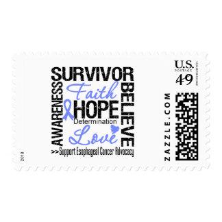Esophageal Cancer Survivors Motto Postage