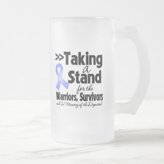Esophageal Cancer Taking a Stand Tribute 16 Oz Frosted Glass Beer Mug
