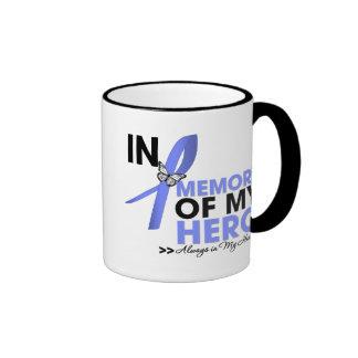 Esophageal Cancer Tribute In Memory of My Hero Ringer Coffee Mug
