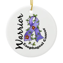 Esophageal Cancer Warrior 15 Ceramic Ornament