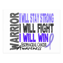 Esophageal Cancer Warrior Postcard