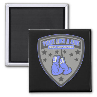 Esophageal Cancer Wear Fight Like A Girl Patch Refrigerator Magnet