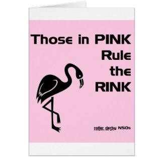 Ésos en rosa: NSOs de Derby del rodillo Tarjeta De Felicitación