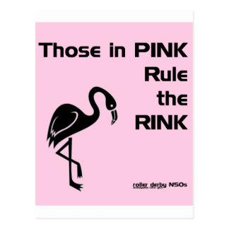 Ésos en rosa: NSOs de Derby del rodillo Tarjeta Postal
