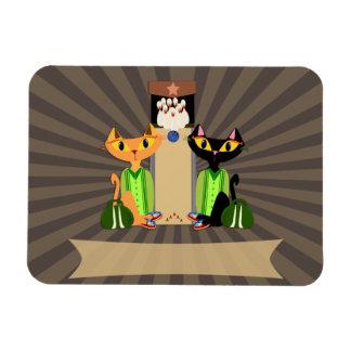 Esos gatos callejeros frescos imán de vinilo