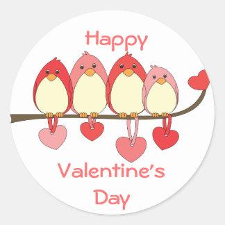 Esos pájaros el día de San Valentín Etiqueta