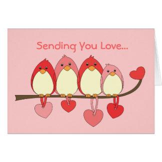Esos pájaros el día de San Valentín Felicitacion