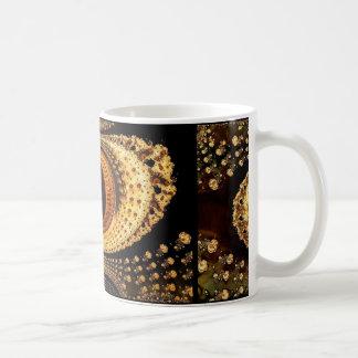 ESOTERIC FRACTAL DESIGN CLASSIC WHITE COFFEE MUG