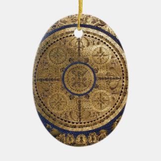 ESOTERIC GOLDEN THANGKA ART CERAMIC ORNAMENT