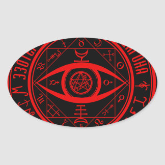 ESOTERIC ORDER OF DAGON SYMBOL OVAL STICKER