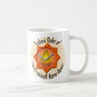 esoteric order of do-it-yourself home repair classic white coffee mug