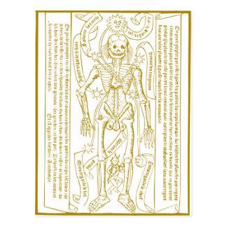 Esoteric skeleton postcard