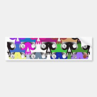 Esoteric Skull (Colour) Bumper Sticker