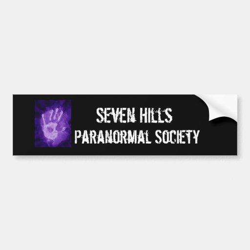 esp, Seven Hills, Paranormal Society Car Bumper Sticker