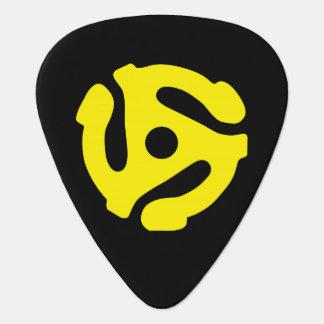 Espaciador retro FRESCO DJ del amarillo 45 del vin Púa De Guitarra