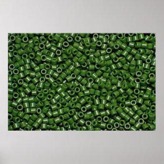 Espaciadores del color verde poster