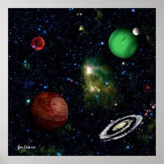 ESPACIE el ~ FINAL de la vecindad de la supernova Póster