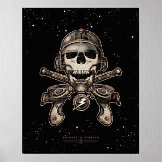 """Espacie el poster del pirata (rayguns) (16x20"""")"""