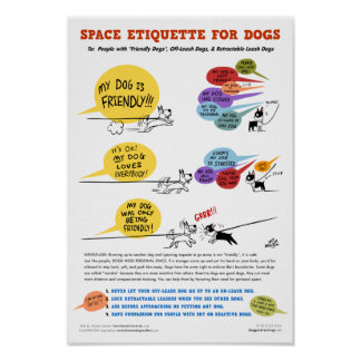 Espacie la etiqueta para el poster de los perros - póster