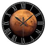 Espacio a todo color del planeta Marte Reloj Redondo Grande