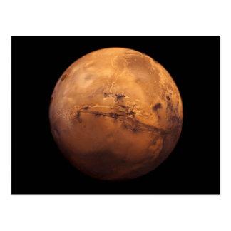 Espacio a todo color del planeta Marte Tarjetas Postales