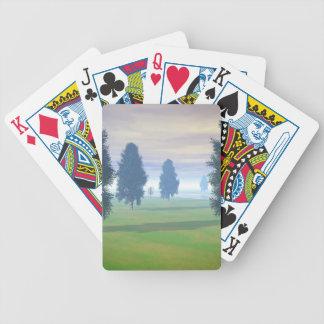 Espacio abierto a siete barajas de cartas