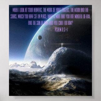 """Espacio abstracto 24"""" x 24"""" poster con el 8:3 de"""