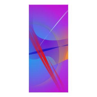 Espacio abstracto rosado púrpura con impacto rojo tarjetas publicitarias a todo color