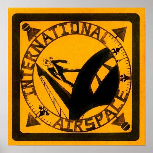 Espacio aéreo internacional posters
