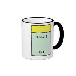 Espacio amarillo taza de dos colores