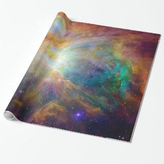 Espacio anaranjado de la astronomía de Hubble de Papel De Regalo