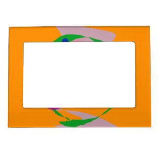 Espacio anaranjado marcos magneticos para fotos