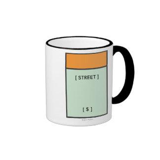 Espacio anaranjado taza de dos colores