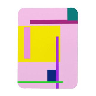Espacio artístico pálido - rosa imanes rectangulares