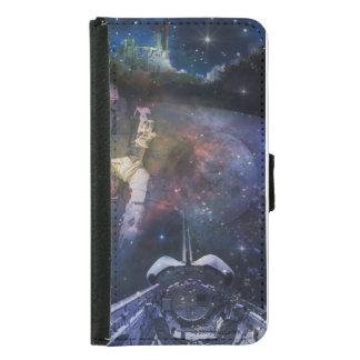 Espacio - astronauta, despegue y collage de la