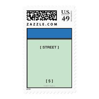 Espacio azul sellos