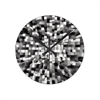 Espacio bloqueado reloj redondo mediano
