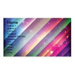 Espacio colorido Backgrounds2, nombre, dirección 1 Tarjetas De Visita